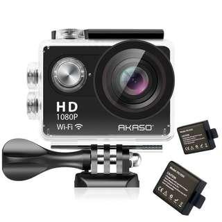 AKASO EK5000 1080P Sports Action Camera Full HD Camcorder 12MP WiFi Waterproof Camera 2 Inch LCD Screen 170 Degree Wide View Angle