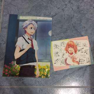 Honeyworks Koyuki File + Hina Autographed Postcard