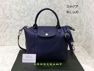 Longchamp Le Pliage Neo Cuir Navy Blue