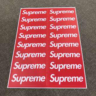 A98 Supreme - Luggage/ notebook/ guitar / laptop stickers