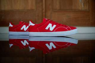 New balance original AM210 red white canvas murah