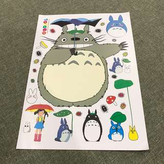 A100 Totoro - Luggage/ notebook/ guitar / laptop stickers