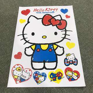 A101 Hello Kitty - Luggage/ notebook/ guitar / laptop stickers