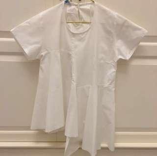 asymmetric white top