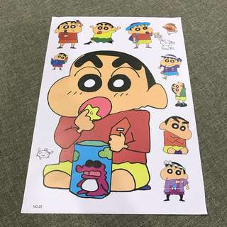 A103 Crayon Shin-Chan - Luggage/ notebook/ guitar / laptop stickers
