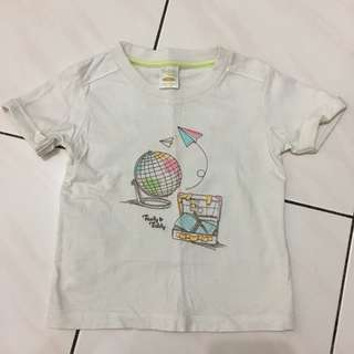 Trudy & Teddy White T-Shirt 1-3yrs