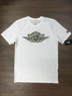 Nike BHM Air Jordan Embroidered Logo T shirt 佐敦牌籃球tee