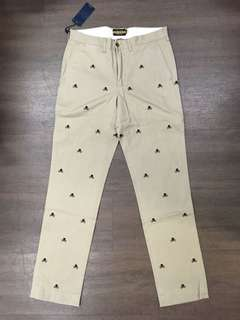 Polo Rugby All Over Embroidered Skull Chino Pants骷髗繡花斜布褲rrl