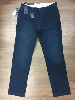 Polo Ralph Lauren Washed Damaged Chino Navy rrl 洗水斜布褲