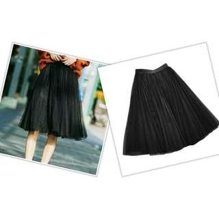 Black Tulle Tutu Skirt