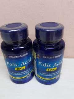 🚚 Holland & Barrett Folic Acid 400ug