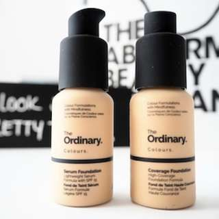 [FREE MAIL] the ordinary serum coverage foundation SPF15