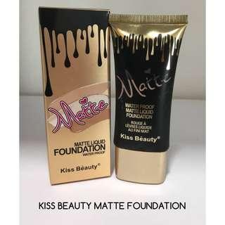 KISS BEAUTY MATTE WATERPROOF FOUNDATION