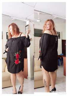 Plus Size Off Shoulder Dress 5XL