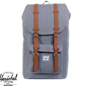 Herschel Little America Backpack 背包(grey or green) (100%new & real)