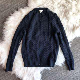 Navy Cableknit Sweater