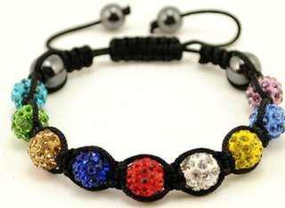 9 pcs crystal disco ball bracelet.