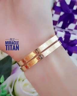 Gelang titanium cantik murah