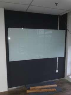 glass whiteboard size 3'×6'