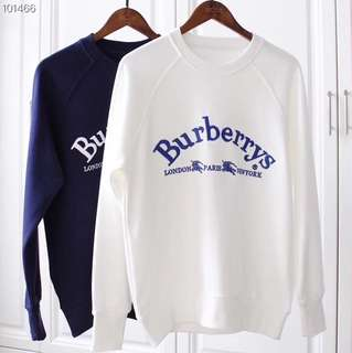 Burberry SS18/18SS Embroidered Logo Sweater Sweatshirt Crewneck Jumper