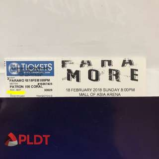 Negotiable Paramore live in Manila ticket #TourFourMNL