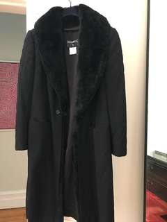 Chanel Quilted Black Coat