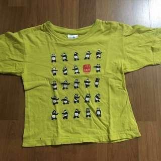 Unisex (Boys/ Girls) Panda Q kid round neck short sleeves Shirt