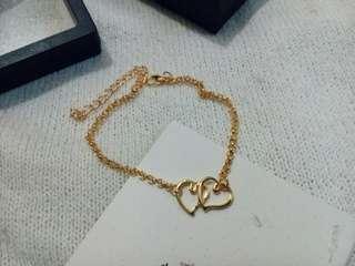 🔥 Sale Double Heart Holden Anklet Bracelet