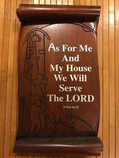 Joshua 24:15 Bible verse wooden plaque (made of solid wood)