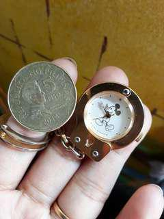 Vintage Mickey Mouse Alba 1982 Pocket Watch/Keychain