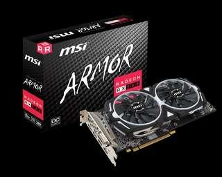 MSI Radeon Rx580 Armor OC 8GB