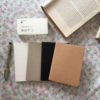 Pocket size Kraft Plain notebooks