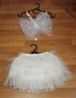 Kid Costume - Butterfly top / princess tutu skirt