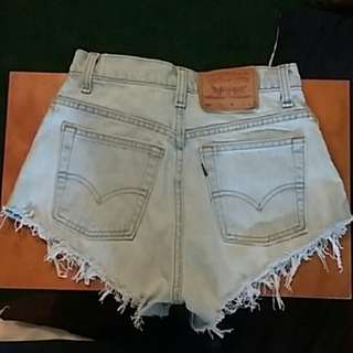 Levi's cheeky cutoff denim shorts from urban outfitters