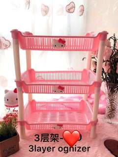 Hello Kitty 3 Layer Rack Cabinet Tray