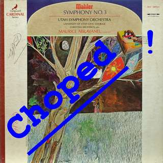 mahler Vinyl LP used, 12-inch, may or may not have fine scratches, but playable. NO REFUND. Collect Bedok or The ADELPHI.