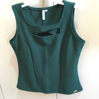 Moss green Mikaela blouse