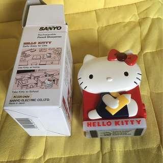 全新 1985 日本製造Hello Kitty電動鉛筆刨 Sanyo 全新狀態保養極佳 屯門市廣場自取