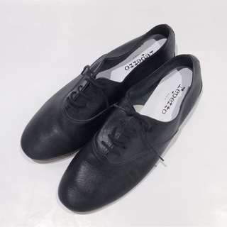 Repetto Zizi Oxford Classic Black Leather Shoes Size EU 40.5