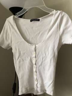 Brandy Melville basic top with buttons one size