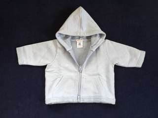 (3 mos) Petit Bateau hooded sweater