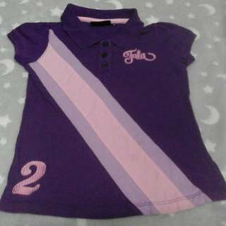 fila casual shirt girl 3-4 years