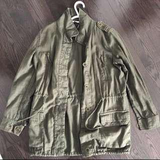 Khaki Green Spring Jacket