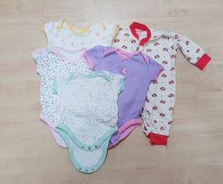 Baby Girl Clothes Rompers Bundle 0 to 6mth old