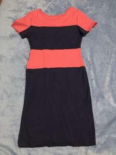 Red/Navy Blue Bodycon Dress