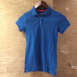 Giordano blue collar shirt / polo shirt Original Authentic 100%