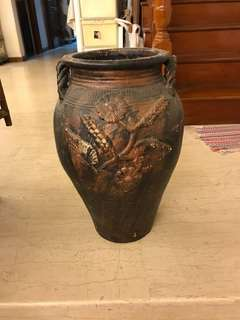 Vase: h/21 w/13 opening:10