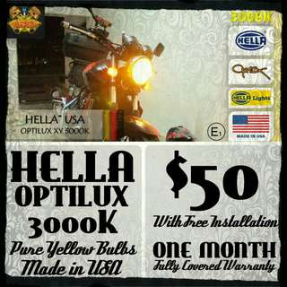 HELLA™ OPTILUX™ XY 3000K PURE YELLOW ALL WEATHER BULBS™