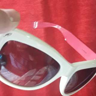 Pink and white sunglasses