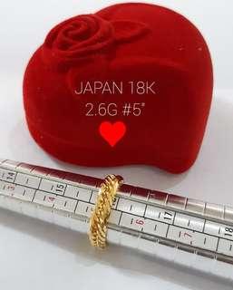 Cadena ring 18k Japan gold size 5